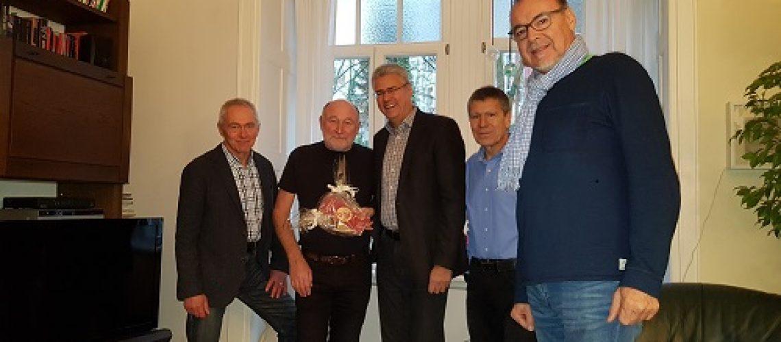 Der Geschäftsführende Vorstand des PSV gratuliert dem Ehrenvorsitzenden Harald Pfeiffer zum 70.Geburtstag